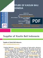 Supplier of Kaolin Bali Indonesia