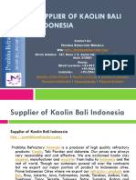 Supplier of Kaolin Bali Indonesia