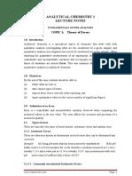 te Analytical Chemistry 1