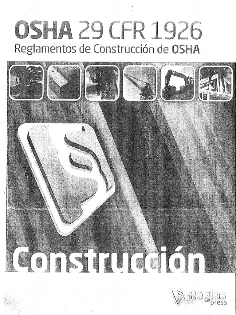 OSHA 29 CFR 1926 Reglamento de Construccion de OSHA