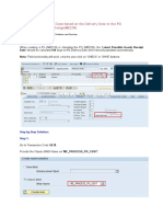 Populate the Latest GR Date Based on the Delivery Date in the PO Creation