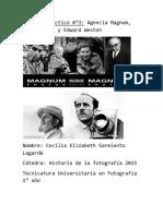 Agencia Magnum, Ansel Adams y Edward Weston. fotografia