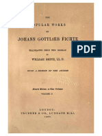 [Fichte J. G.] the Popular Works of Johann Gottlie