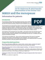 MRKH Menopause