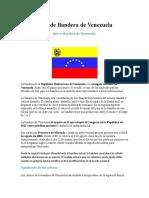 Significado de Bandera de Venezuela