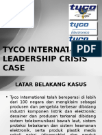 TYCO INTERNATIONAL LEADERSHIP CRISIS CASE