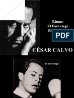 César Calvo - Rimas El Faro ciego - El Domador - poesía