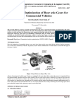 Design and Optimization of Rear axle Gears for Commercial Vehicles