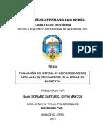 Tesis-evaluación Del Sistema de Despiece de Aceros Astm-A615 en Edificaciones en La Ciudad de Huancayo