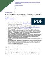 Kako Instalirati Ubuntu Na 32