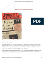 "[RESENHA] ""a Vida Na Sarjeta"", De Theodore Dalrymple"