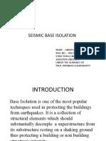 Seismic Base Isolation