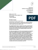 UTSU Letter to the RSU