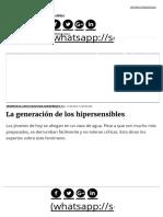 La Generación de Los Hipersensibles