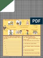 Arbeitsblatt Gehören Personalpronomen Dativ
