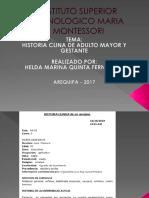Historia Clinica Geriatrico y Gestante