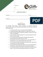 Laboratorio 1. Contabilidad Gerencial II. LAMVCH