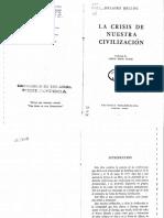 La Crisis de Nuestra Civilización - Hilaire Belloc