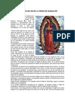 Biografia de La Virgen de Guadalupe