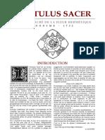 Hortulus Sacer - L'enclos sacré de la Fleur Hermétique - 1732.pdf