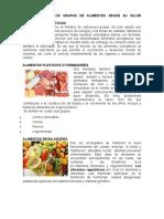 Clasificación Los Grupos de Alimentos Según Su Valor Nutritivo