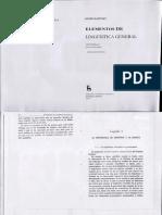 Martinet Cap 1 Elementos de Lingüística General
