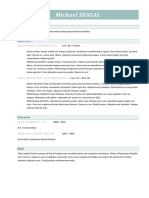 Combination Resume Format 2017 2