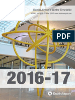 Dublin Airport Winter Timetable 2016