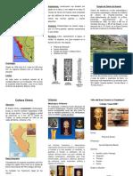 Cultura Chavín triptico