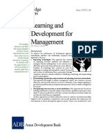 Learning and Development for Management