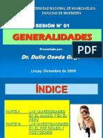 SESION N° 01 - GENERALIDADES