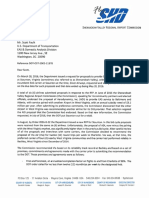 Letter to DOT