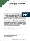MACEDO- A Gestão Ambiental Nas Organizações Como Nova Variável Estratégica