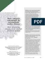 Artigo Shen Categoria Estruturante Da Racionalidade Médica Chinesa- Cláudia Ferreira