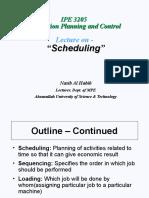 IPE Lec AUST Scheduling