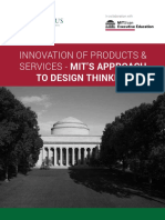 Innovation of Products and Services Mit s Approach to Design Thinking