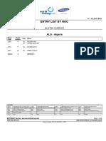 Start List - II WC