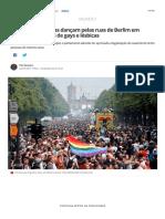 Milhares de Pessoas Dançam Pelas Ruas de Berlim Em Defesa Dos Direitos de Gays e Lésbicas _ Mundo _ G1