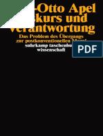 Diskurs Und Verantwortung - Karl-Otto Apel