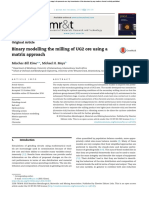 Binary Modelling the Milling of UG2 Ore Using a Matrix Approach