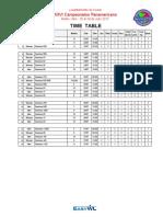 2017 IWF Senior Pan Ams Final Schedule