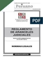 Reglamento de Aranceles Judiciales