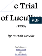 The Trial of Lucullus by Brecht