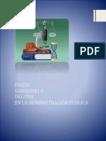 Faltas Sanciones y Delitos en La Administración Pública