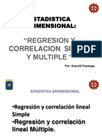 Regresión y Correlación Simple y Multiple