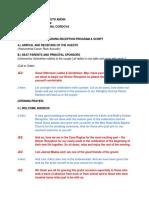Wedding Reception Script [Jezreel & J-Ann] [Nearly Done]