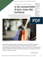Os Direitos Do Consumidor Que Você Tem%2c Mas Não Conhece - Época NEGÓCIOS _ Finanças de Bolso