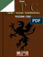 d20 Adamant Entertainment NPC (Non Player Compendium) Volume 2