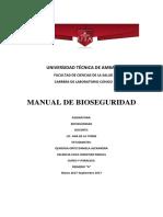 Manual Bioseguridad Laboratorio 2017
