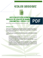 PS Anticoncepcion Hormonal y Riesgo de Cancer